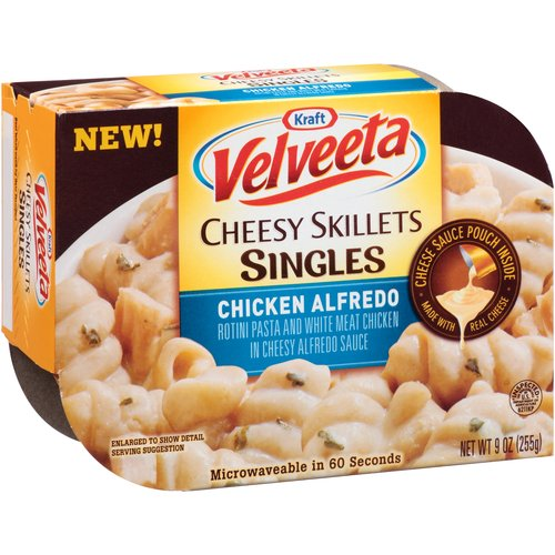 Kraft Velveeta Cheesy Skillets Singles Chicken Alfredo, 9 oz