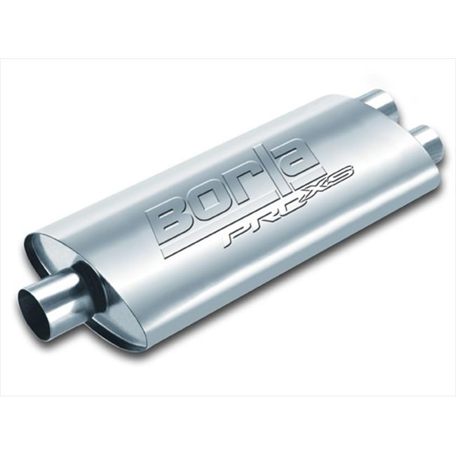 BORLA 40348 Universal Muffler - Single 2.5 In. Inlet And Dual 2.5 In. Outlet