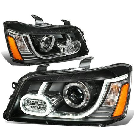 for 01-07 toyota highlander 3d led day running strip projector headlight black housing amber corner headlamp 02 03 04 05 06 left+right 04 Toyota Matrix Headlight