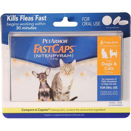Fastcaps  Nitenpyram  Oral Flea Treatment Medication  2 25 Lbs  6 Count Ship From Us     By Petarmor