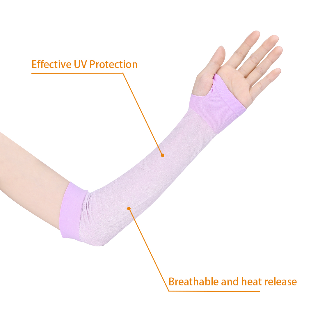 UV Protection Reflective Arm Cooling Sleeves Outdoor Sports for Men Women Purple - image 2 of 5