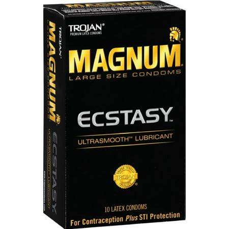 Trojan Size Chart (3 Pack - TROJAN MAGNUM Ecstasy Condoms Ultrasmooth Lubricant Large Size 10)