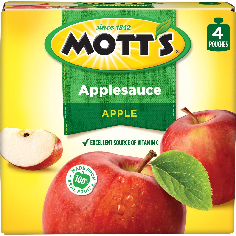 (3 Pack) Mott's Applesauce, 3.2 oz, 4 count