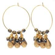 Beaded Hoop Earrings - Gold/Tweedy Gold - Exclusive Beadaholique Jewelry Kit