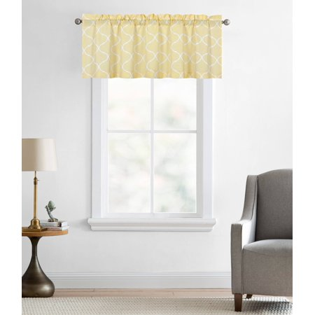 - Regal Home Collections Oversized Shabby Lattice Trellis Rod Pocket Window Valances - Yellow