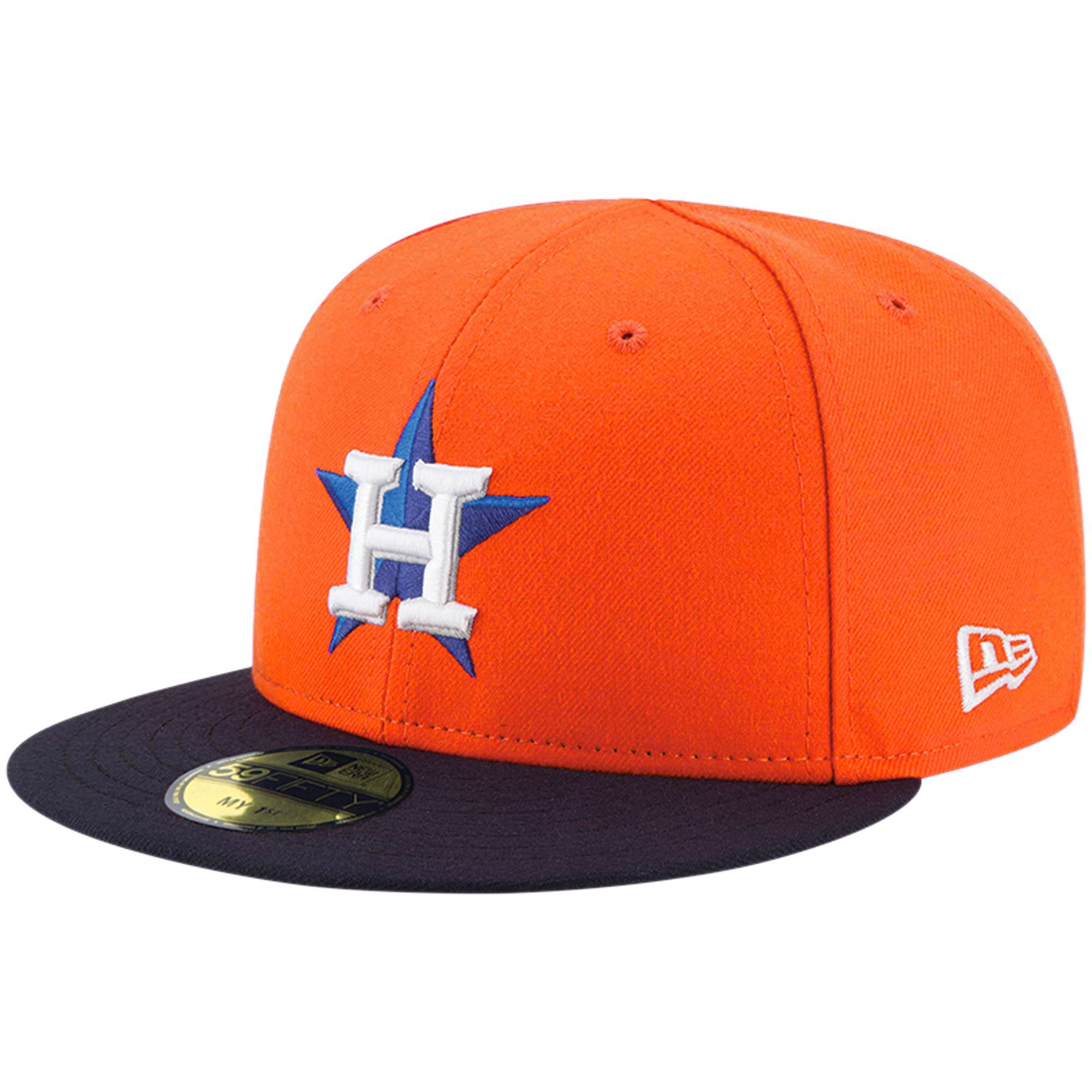 Houston Astros New Era Infant Authentic Collection On-Field My First 59FIFTY Fitted Hat - Orange - 6
