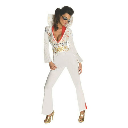 Halloween Sassy Elvis Women's Costume (Cheap Elvis Costume)