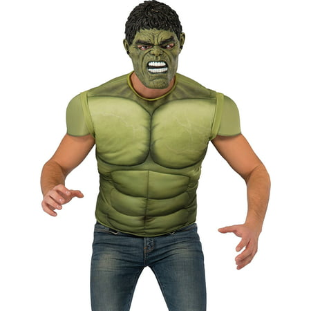 adult mens thor ragnarok hulk shirt and mask costume - Thor Mens Costume