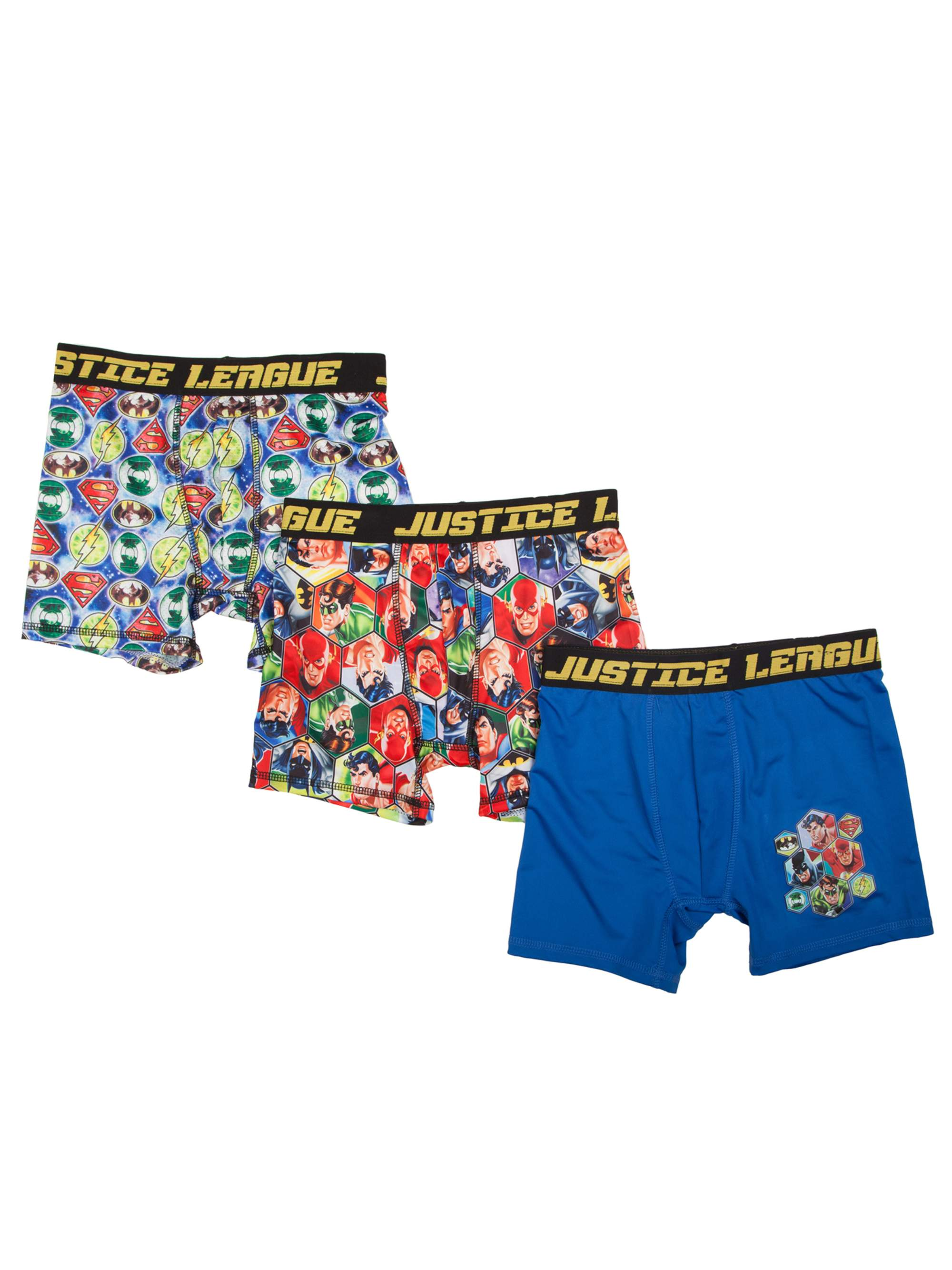Boy's Poly Boxer Briefs, 3 Pack