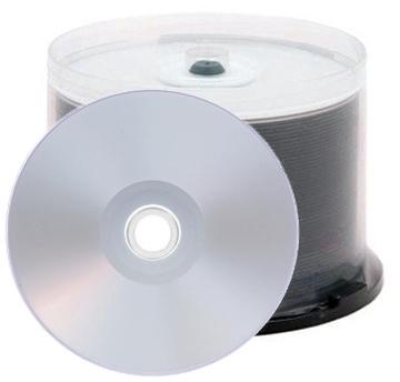 CheckOutStore 50 Grade A 16X DVD-R 4.7GB Silver Inkjet Hub Printable