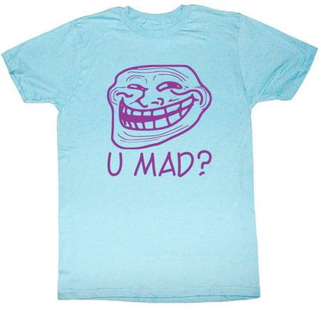 U Mad  You Mad Bro  Meme Gif Trending Pastel Blue U Mad  Adult T Shirt