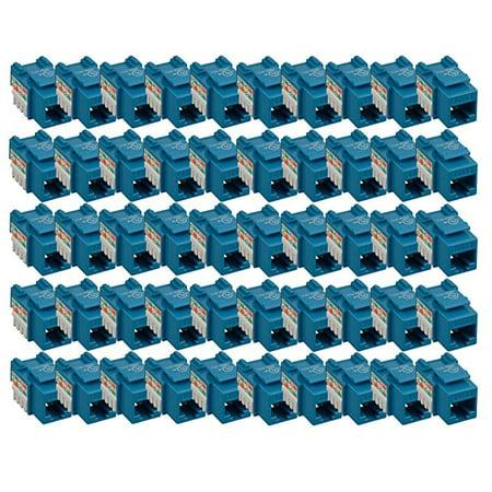iMBAPrice (Pack of 25) Keystone Punch Down Jack Cat-5e RJ-45 - Blue