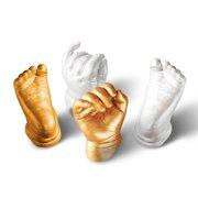 snorda 3D Plaster Handprint Footprint Baby Mould Hand&Foot Casting Prints Kit Cast Gift