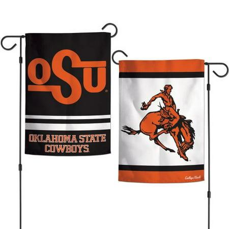 Oklahoma State Garden Flag 2 Sided Cowboys Vault Logo