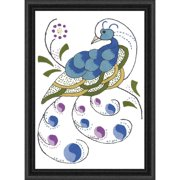 Herrschners® Regal Peacock Stamped Embroidery Kit