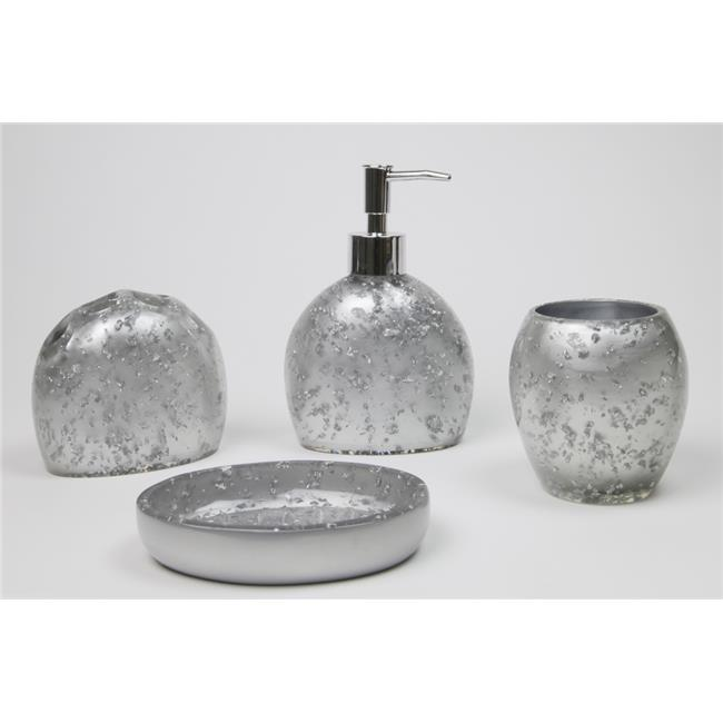 Nua Gifts 65002 Bathroom Accessories Set Silver
