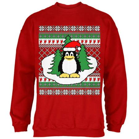 penguin on ice ugly christmas sweater mens sweatshirt walmartcom
