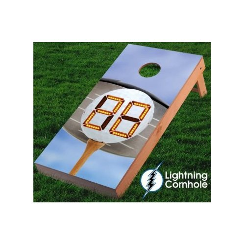 Lightning Cornhole Electronic Scoring Golf Ball Cornhole Board by