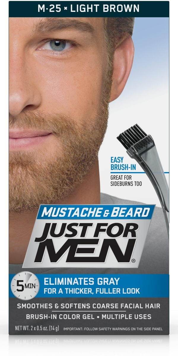 Lovely Just For Men Mustache And Beard, Easy Brush In Facial Hair Color Gel, Light  Brown, Shade M 25   Walmart.com Amazing Design
