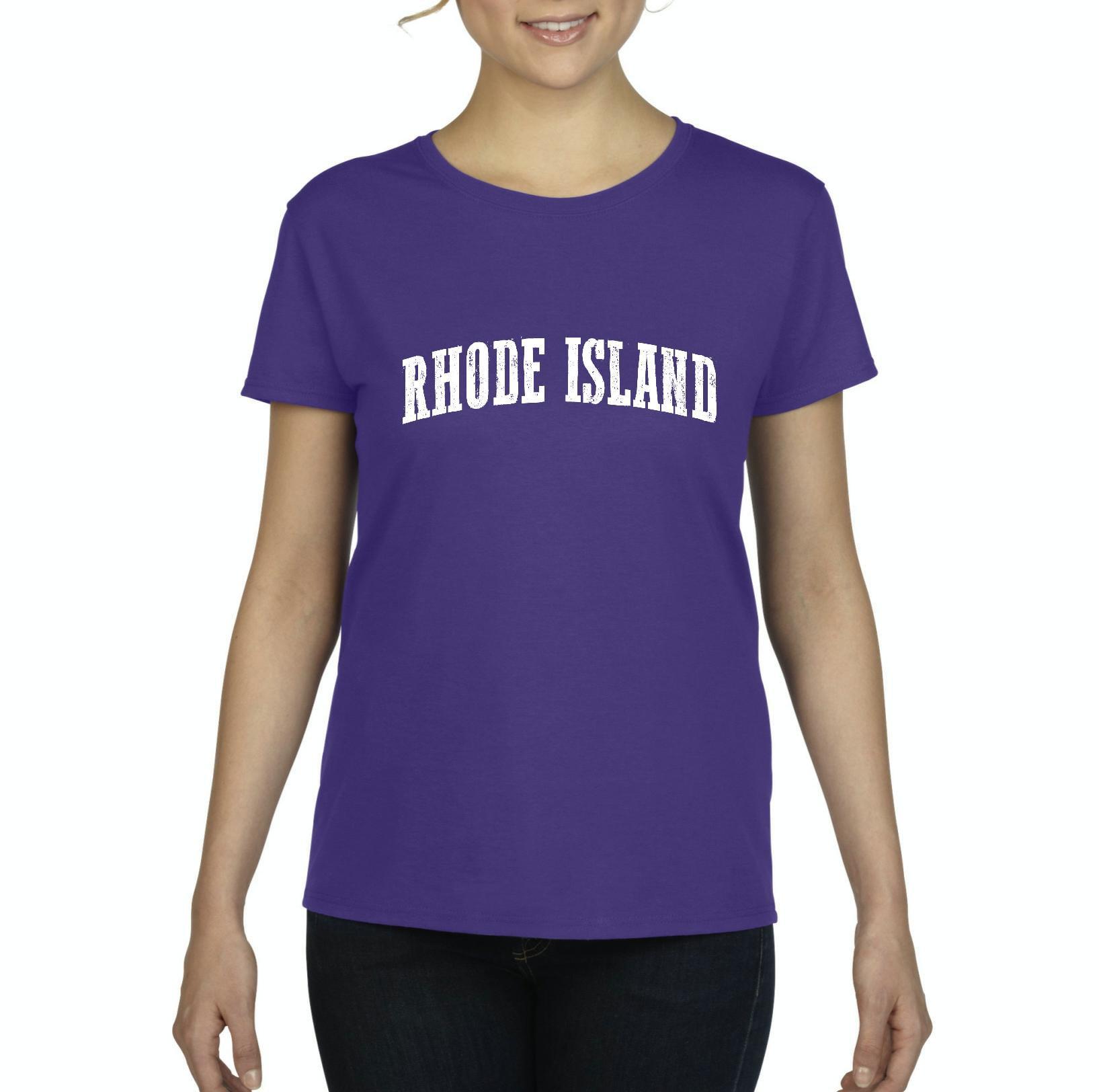 J_H_I RI Rhode Island Providence Map Home of Rams University of Rhode Island  Womens Shirts