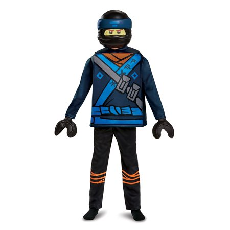 Disguise Jay Lego Ninjago Movie Deluxe Costume, Blue, Medium (7-8)