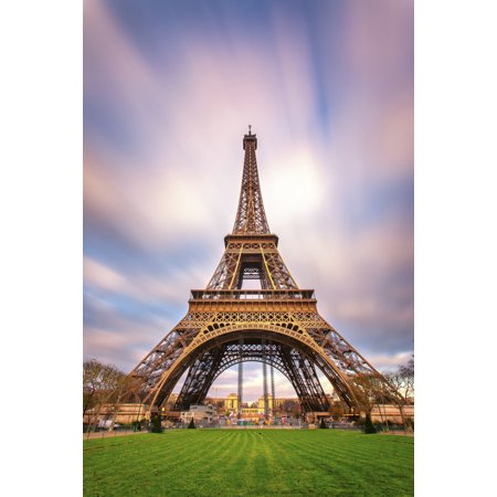 The Eiffel Tower Paris France Photo Art Print Poster 12X18 Inch