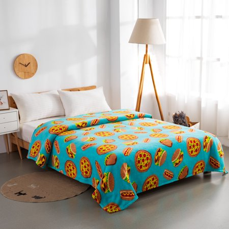 Mainstays Plush Twin Pizza Bed Blanket
