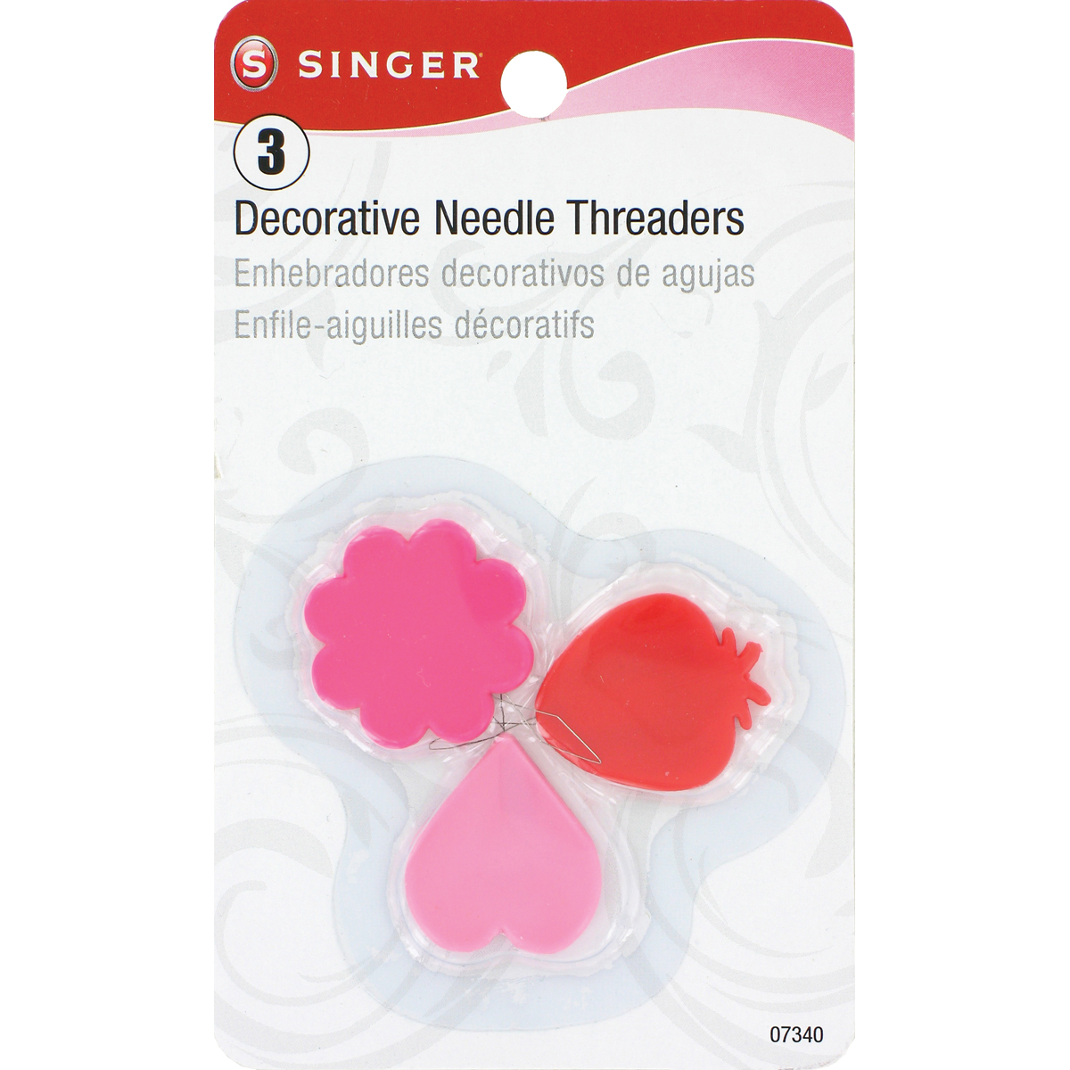 Singer Plastic Decorative Needle Threaders-3/Pkg