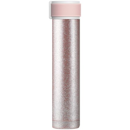 Asobu 8 Ounce Skinny Glitter Water - Black 12 Ounce Bottle