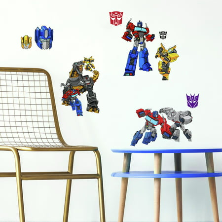Transformers Cyberverse Peel and Stick Wall Decals ()