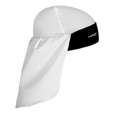 Halo Headband Solar Skull Cap & Tail, White, Skull cap and tail featuring our patented Sweat Seal Grip Technology By Halo - Swat Cap