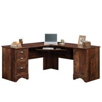 Sauder Harbor View Corner L-Shaped Computer Desk, Curado Cherry Finish