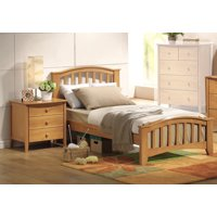San Marino Full Kids Youth Bed With Matching Night Stand Drawers In Maple