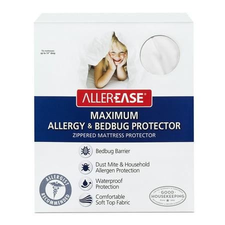 allerease maximum allergy bed bug protection zippered With allerease bed bug mattress protector reviews