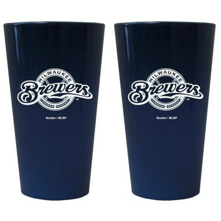 Milwaukee Brewers Lusterware Pint Glass - Set of 2 - image 1 de 1