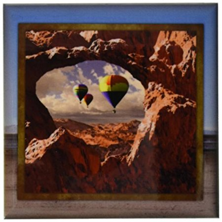 - 3dRose Hot Air Balloons in the Southwest, Ceramic Tile Coasters, set of 4