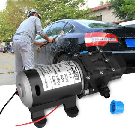 Yosoo DC 12V High Pressure Diaphragm Self Priming Water Pump 160Psi 8Lpm for Sprinklers Wash 100W