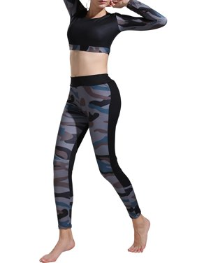e0c561ebf Product Image Women Sports Gym Yoga Running Workout Fitness Leggings Women  Athletic Clothes Long Sleeve Bra Crop Tops