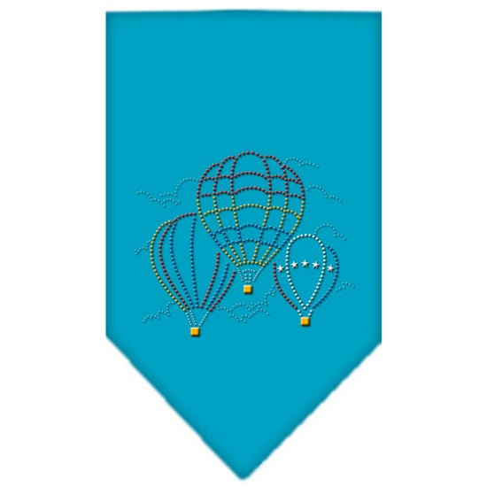 Mirage 67-39 SMTQ Hot Air Balloons Rhinestone Pet Bandana Turquoise Small