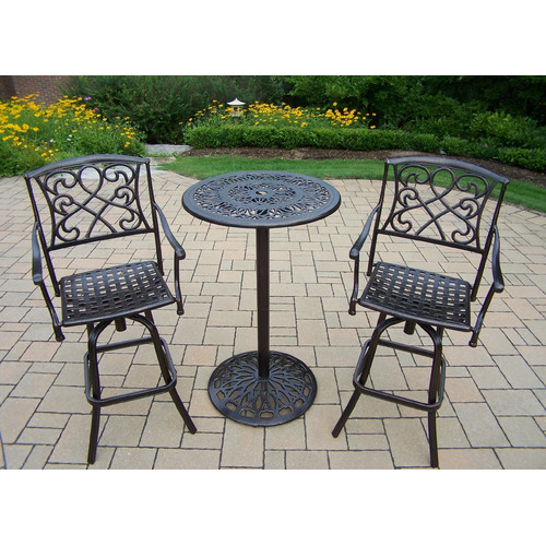 Fleur De Lis Living Ericka 3 Piece Bar Height Dining Set