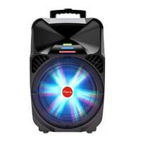"Ridgeway QS-1575BR Pro 15"" Party DJ Karaoke BT Speaker with Microphone/LED Lights USB/SD/FM/AUX"