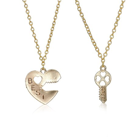 Sexy Sparkles 2pcs Broken Heart Lock & Key