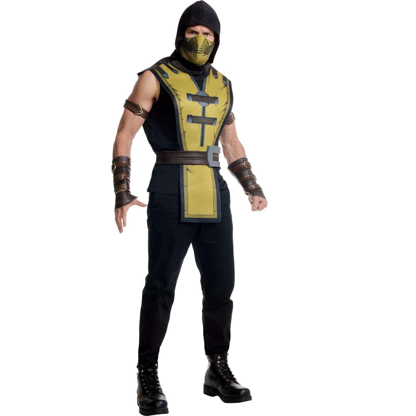 Adult Mortal Kombat Scorpion Costume Walmart Com Walmart Com