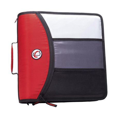 Case it Mighty Zip Tab, 3 inch O-Ring Zipper Binder w/Tab File, -