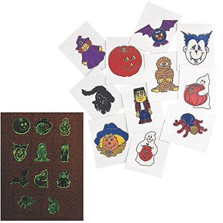 Glow-In-The-Dark Halloween Tattoos (6 Dozen) - Bulk - Glow In Dark Tattoo