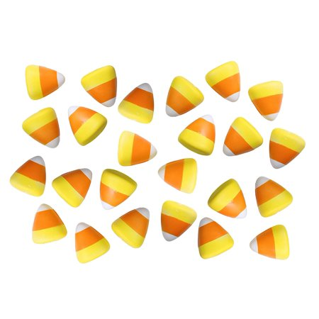 Bulk 24 Candy Corn Halloween Party Favor Stress Balls, Small Novelty Toy Prize Assortment Gifts (1 Dozen) - Halloween Party Items