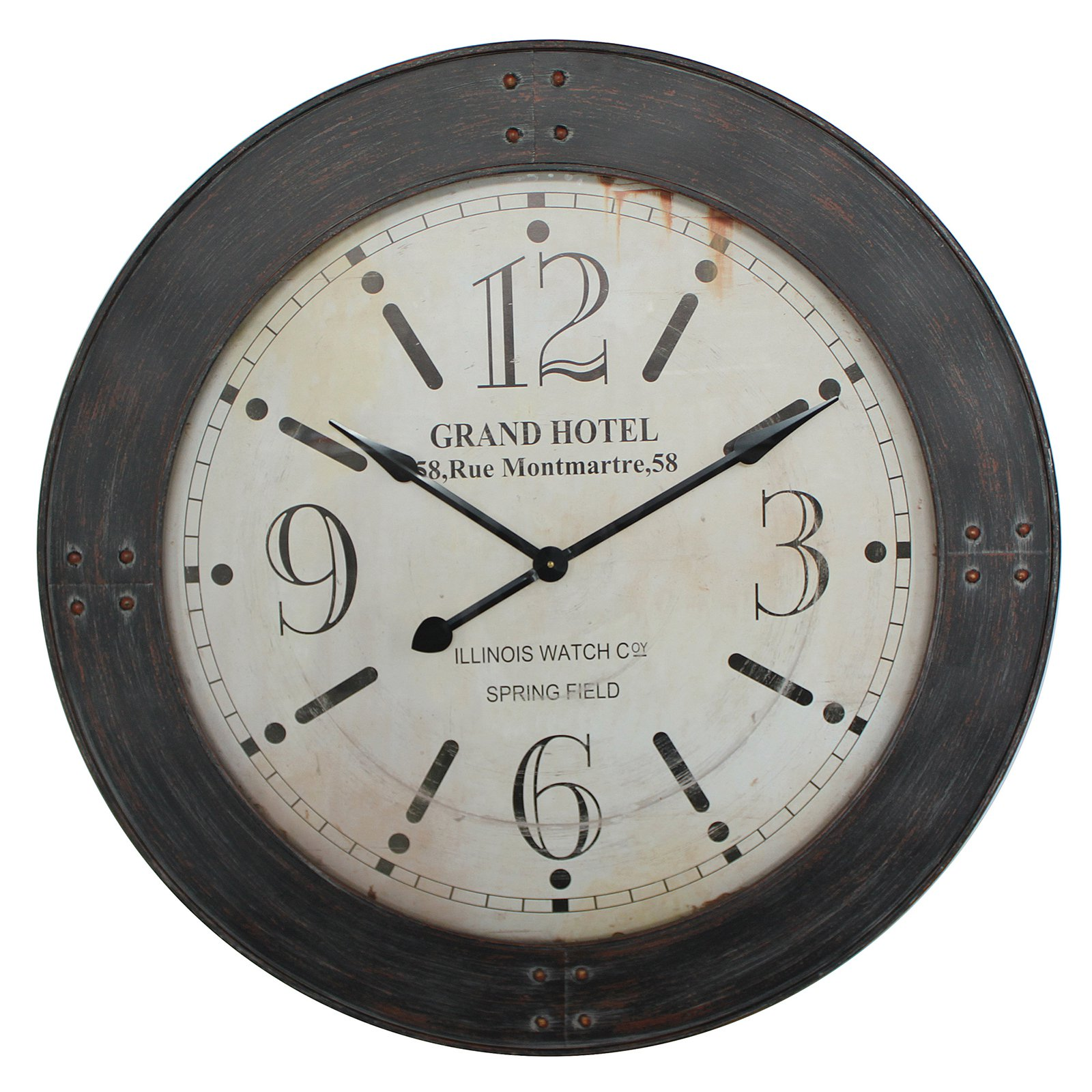 Yosemite Home Decor 39 in. Circular Iron Wall Clock