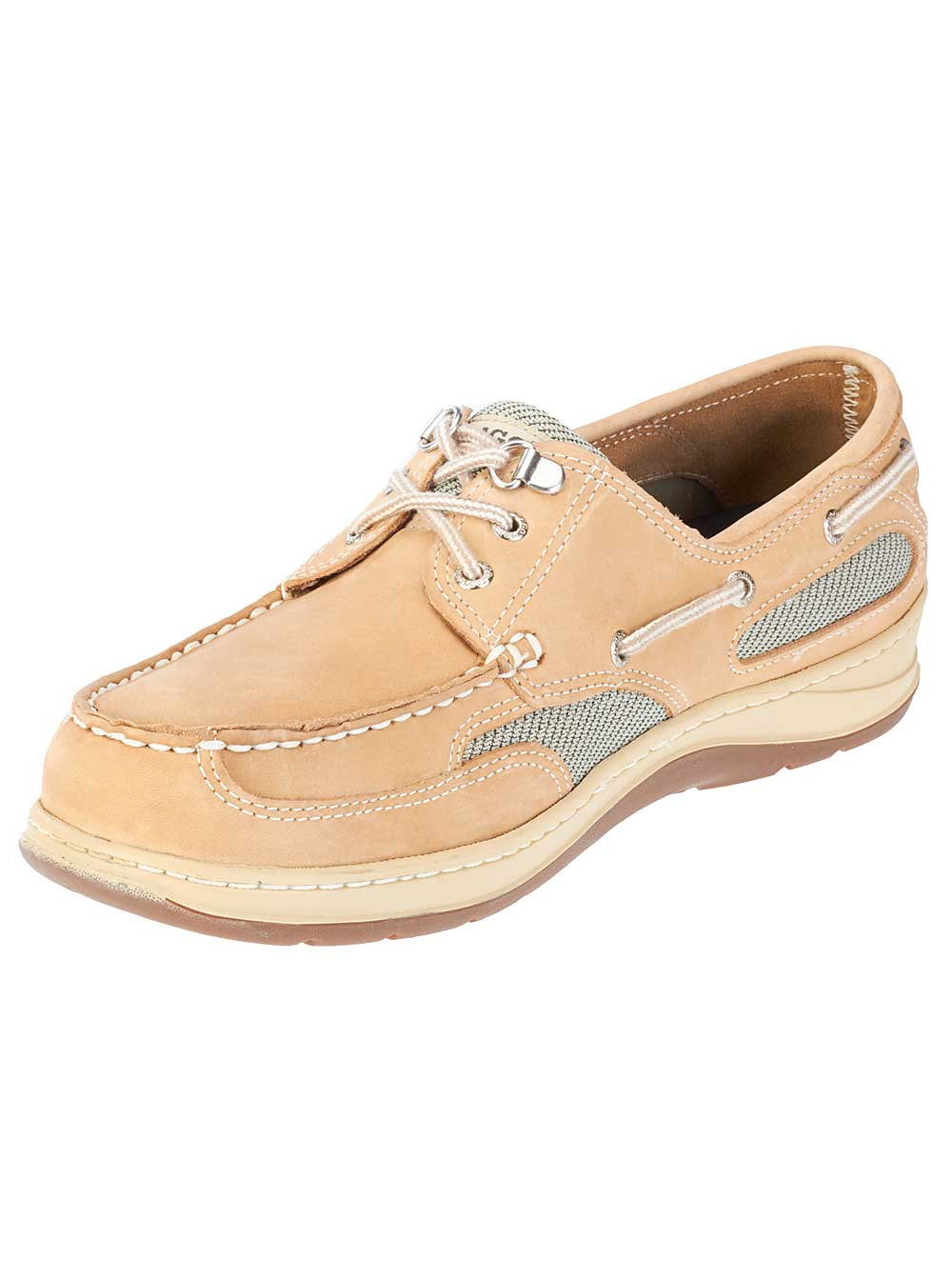 Sebago Mens Clovehitch II Boat Shoes in Taupe Nubuck