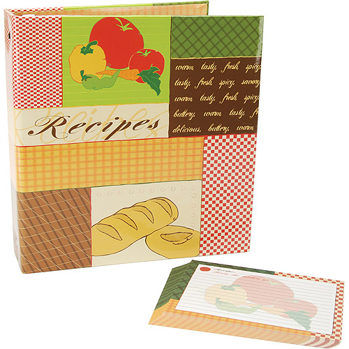Recipes 3-Ring Scrapbook Kit, 5''X7'' Recipe Cards