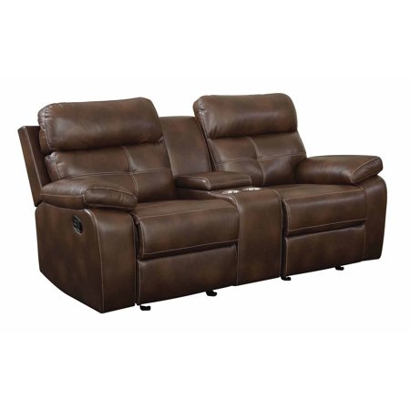 Pleasing Coaster Company 77 5 Damiano Faux Leather Reclining Loveseat Brown Gmtry Best Dining Table And Chair Ideas Images Gmtryco